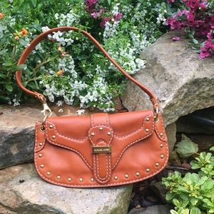 Authentic Michael Kors Tan Brown Leather Purse